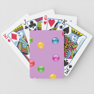 Multicolor Shiny Polkadot Confetti DIY Background Bicycle Playing Cards