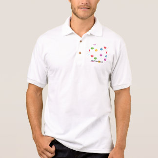 Multicolor Shiny Polkadot Confetti DIY Background Polo T-shirt