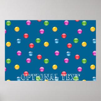 Multicolor Shiny Polkadot Confetti DIY Background Poster