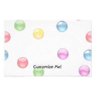 Multicolor Shiny Polkadot Confetti DIY Background Stationery