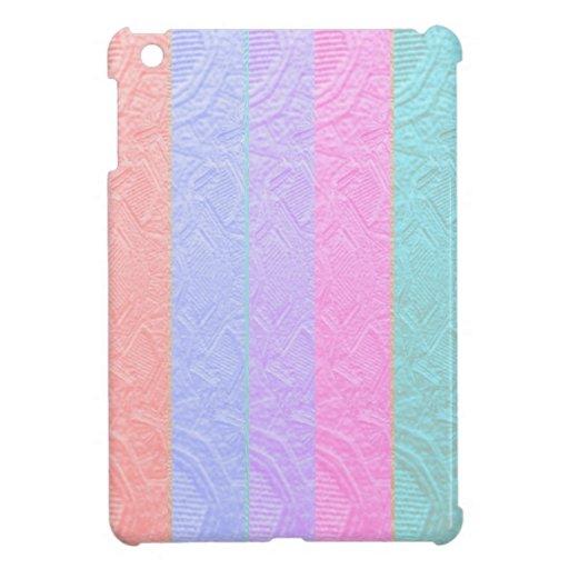 MultiColor Silken Engraved Look Patterns iPad Mini Cover