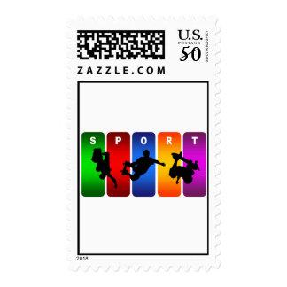 Multicolor Skateboarding Emblem Postage