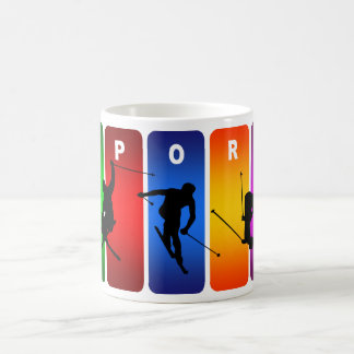 Multicolor Ski Emblem Coffee Mug