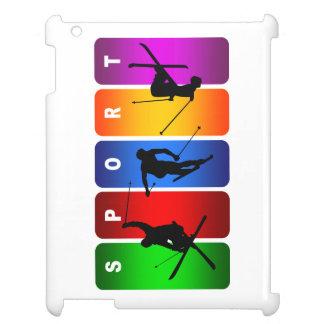 Multicolor Ski Emblem iPad Cover