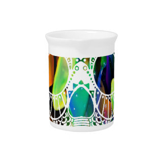 MULTICOLOR SKULL PRODUCTS DRINK PITCHER