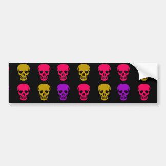 Multicolor Skulls Bumper Sticker