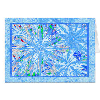 Multicolor snownflakes card