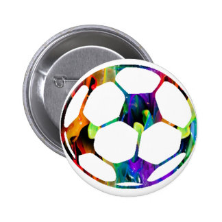 MULTICOLOR SOCCER BALL PRODUCTS PINBACK BUTTON