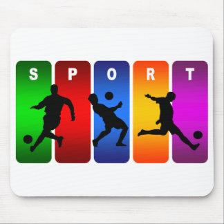Multicolor Soccer Emblem Mouse Pad