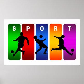 Multicolor Soccer Emblem Poster