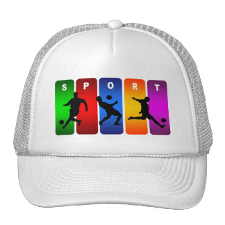 Multicolor Soccer Emblem Trucker Hat