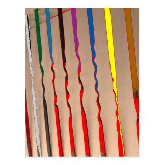 Multicolor Sparkle n Silken Rounds n Ovals Postcards