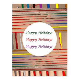 Multicolor Sparkle n Silken Rounds n Ovals Post Card