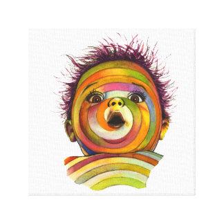 Multicolor Spiral Baby Face Canvas Print