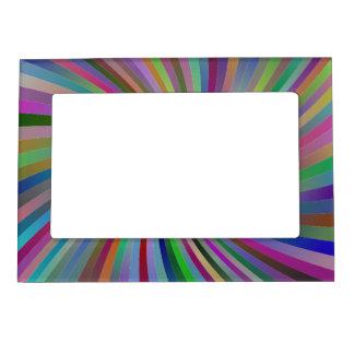 Multicolor spiral magnetic picture frame
