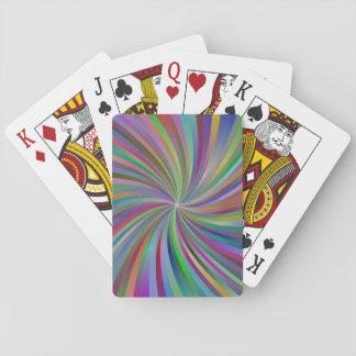 Multicolor spiral poker deck