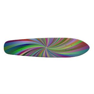 Multicolor spiral skate board decks