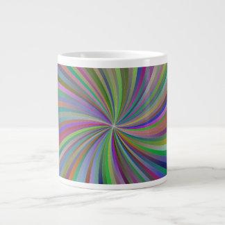 Multicolor spiral 20 oz large ceramic coffee mug