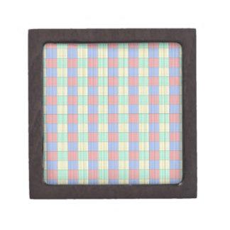 Multicolor Square.Seamless Colored Plaid Pattern Premium Gift Boxes