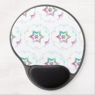 Multicolor Star Dot Pattern Gel Mouse Pad