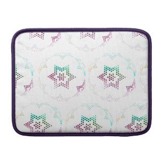 Multicolor Star Dot Pattern MacBook Sleeve