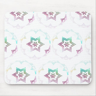Multicolor Star Dot Pattern Mouse Pad
