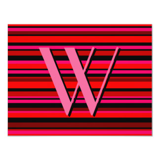 Multicolor Stripe Invitation