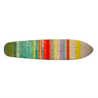 Multicolor Stripe Rupydetequila Skate Board  Skate