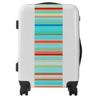 Multicolor Striped Pattern Luggage