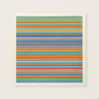 Multicolor Striped Pattern Napkin