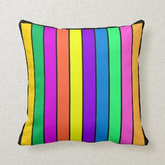 Multicolor Striped Pillows