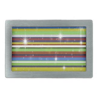 Multicolor Stripes Rectangular Belt Buckles