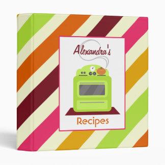 Multicolor Stripes Binder Kitchen Binder