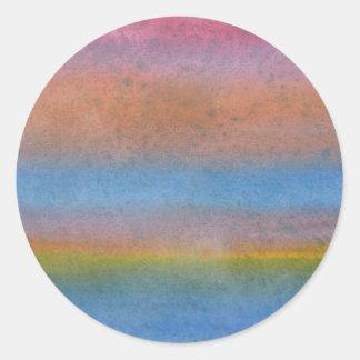 Multicolor Stripes. Classic Round Sticker