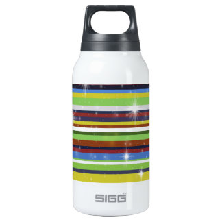 Multicolor Stripes Insulated Water Bottle