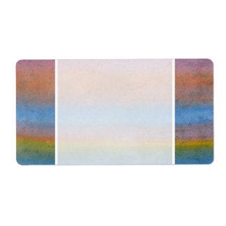 Multicolor Stripes. Label
