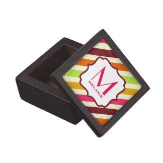 Multicolor Stripes Monogram Premium Gift Box