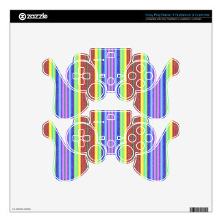 Multicolor Stripes Pattern 2. Soft Colors Lines PS3 Controller Decals