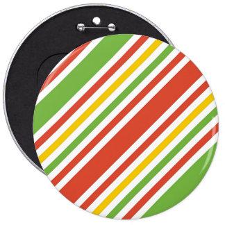 Multicolor Stripes Pattern Button