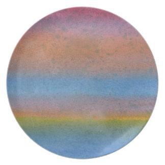 Multicolor Stripes. Plate