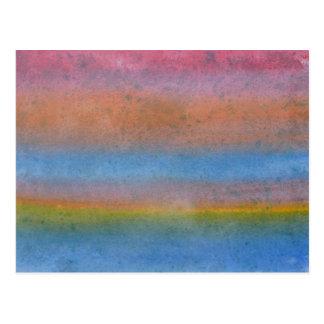 Multicolor Stripes. Postcard