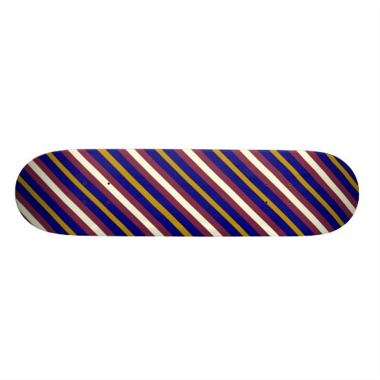 Multicolor Stripes Skateboard