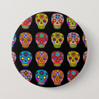 Multicolor Sugar Skulls Button