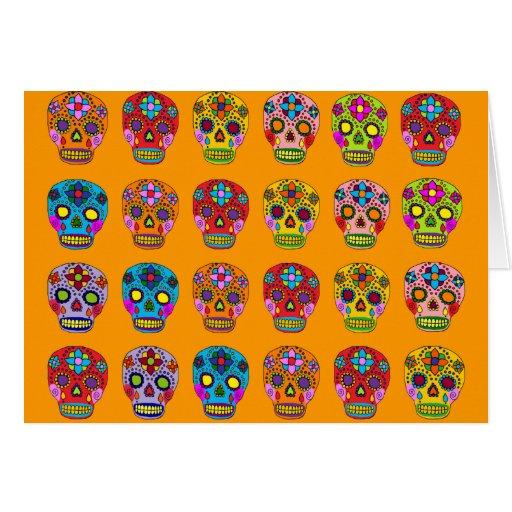Multicolor Sugar Skulls Cards