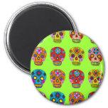Multicolor Sugar Skulls Fridge Magnets