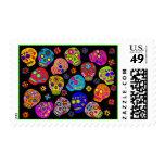 Multicolor Sugar Skulls Postage