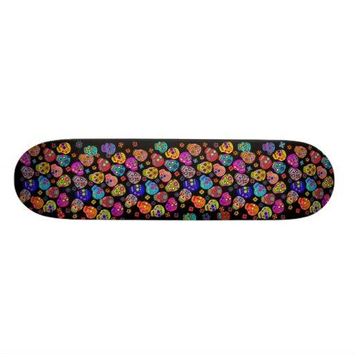 Multicolor Sugar Skulls Skate Decks