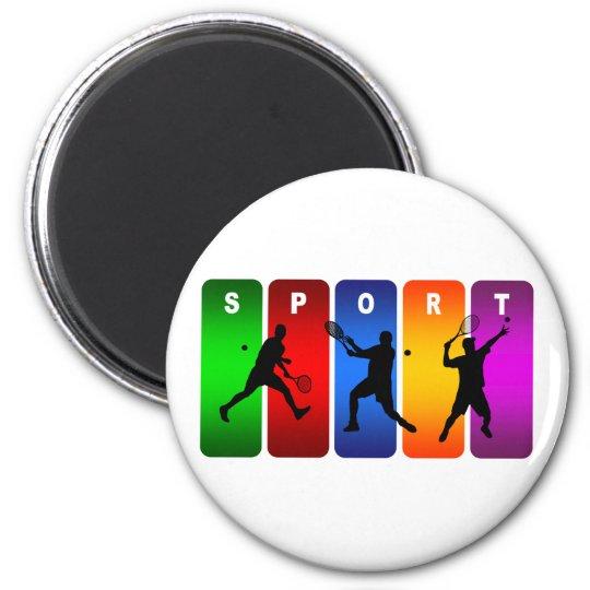 Multicolor Tennis Emblem (Male) Magnet