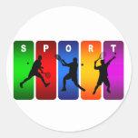 Multicolor Tennis Emblem (Male) Sticker