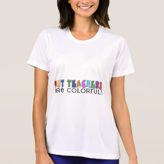 Multicolor Text Art Teacher T-shirts and Gifts